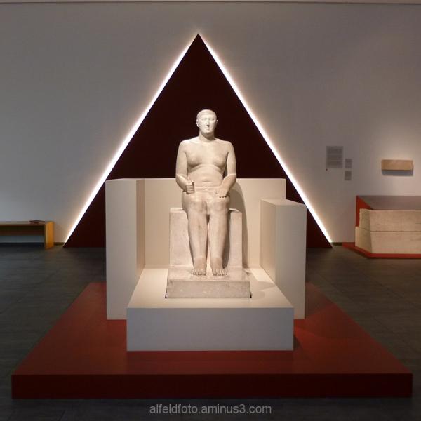 Statue des Hemiunu im RPM Hildesheim