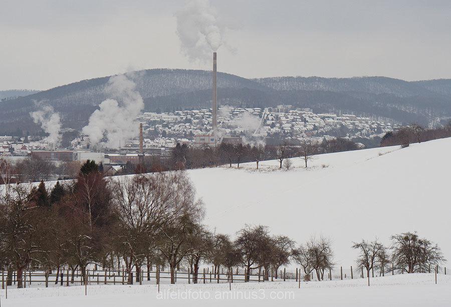 Winteransicht von Alfeld (Leine)