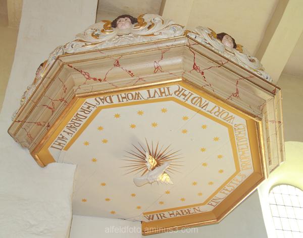 Kanzeldach der Cosmas- und Damian-Kirche, Rheden