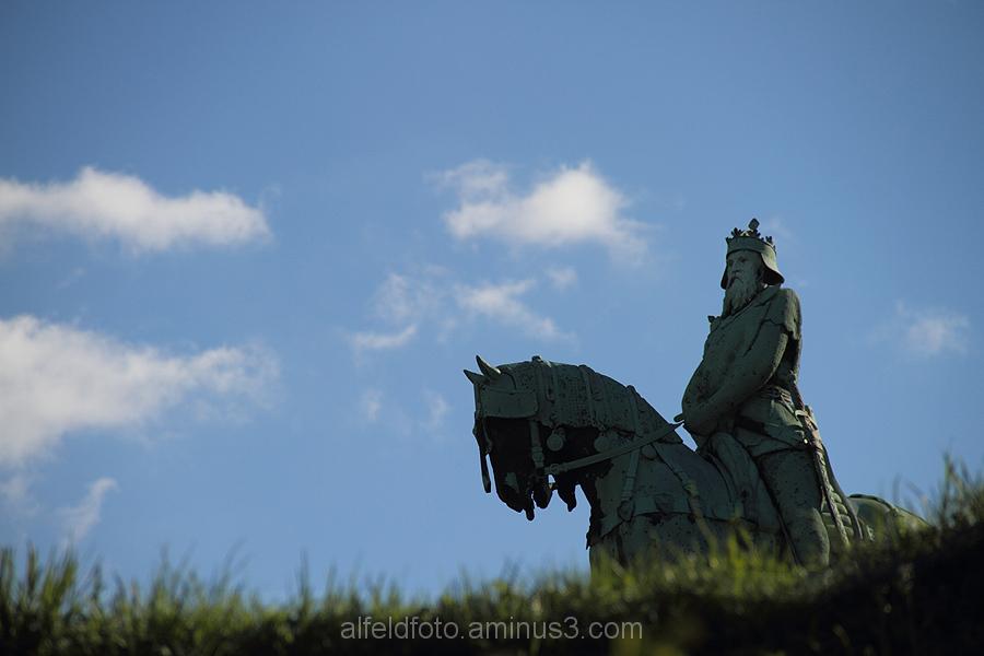 Reiterstatue von Kaiser Barbarossa in Goslar