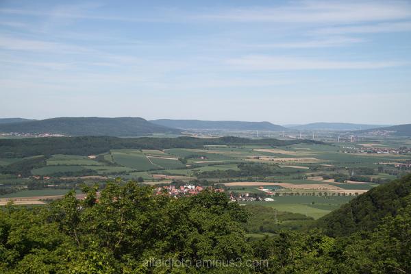 Blick auf Brüggen im Leinebergland