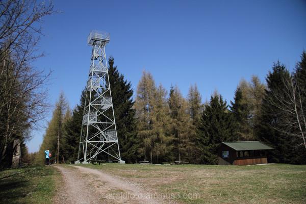 Der Wilhelm-Raabe-Turm auf dem Hils