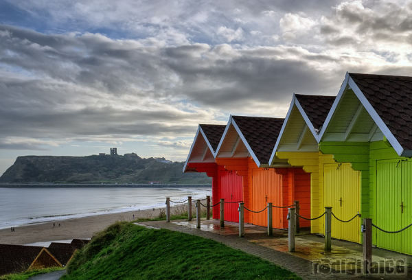 Higher beach huts