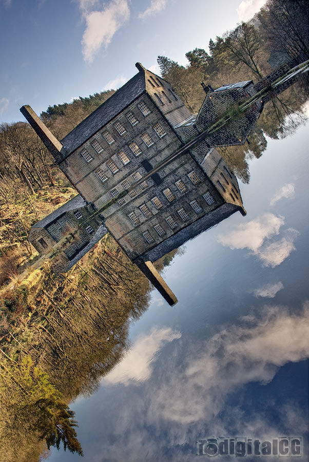 Gibson Mill tilted