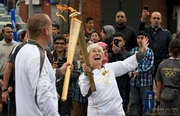 Olympic Torch handover