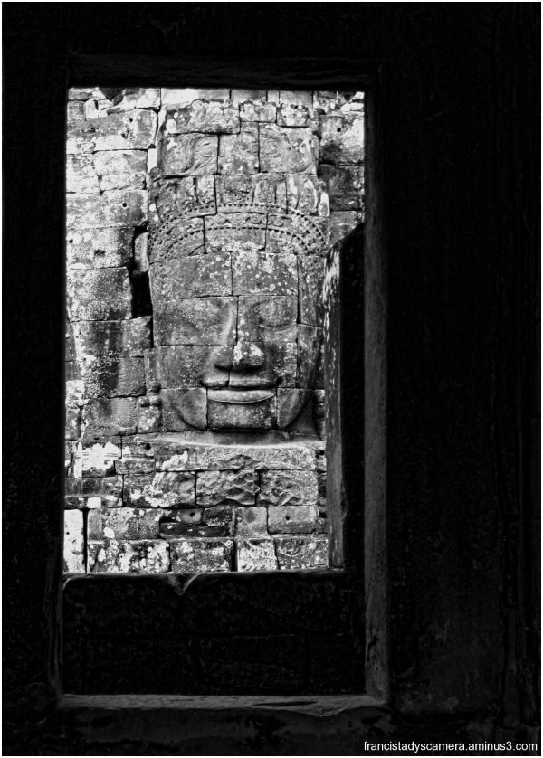 Face of the Buddha at Angkor Wat, Cambodia