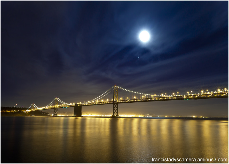 Francis Tady, San Francisco, Bay Bridge, Full Moon
