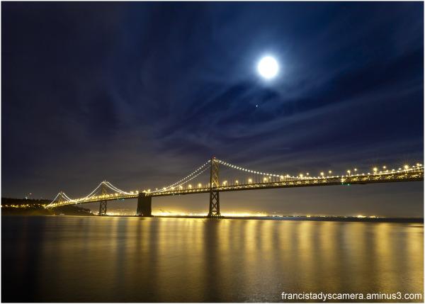 Francis Tady, San Francisco, Bay Bridge, Full Moon