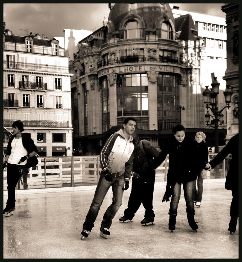 patinoire de l'hotel de ville