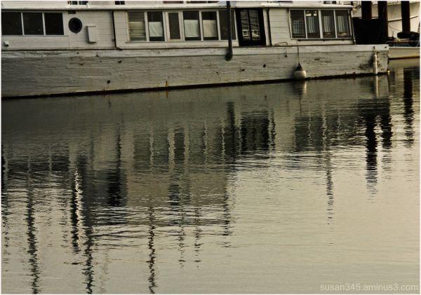 Houseboat...early morning light.