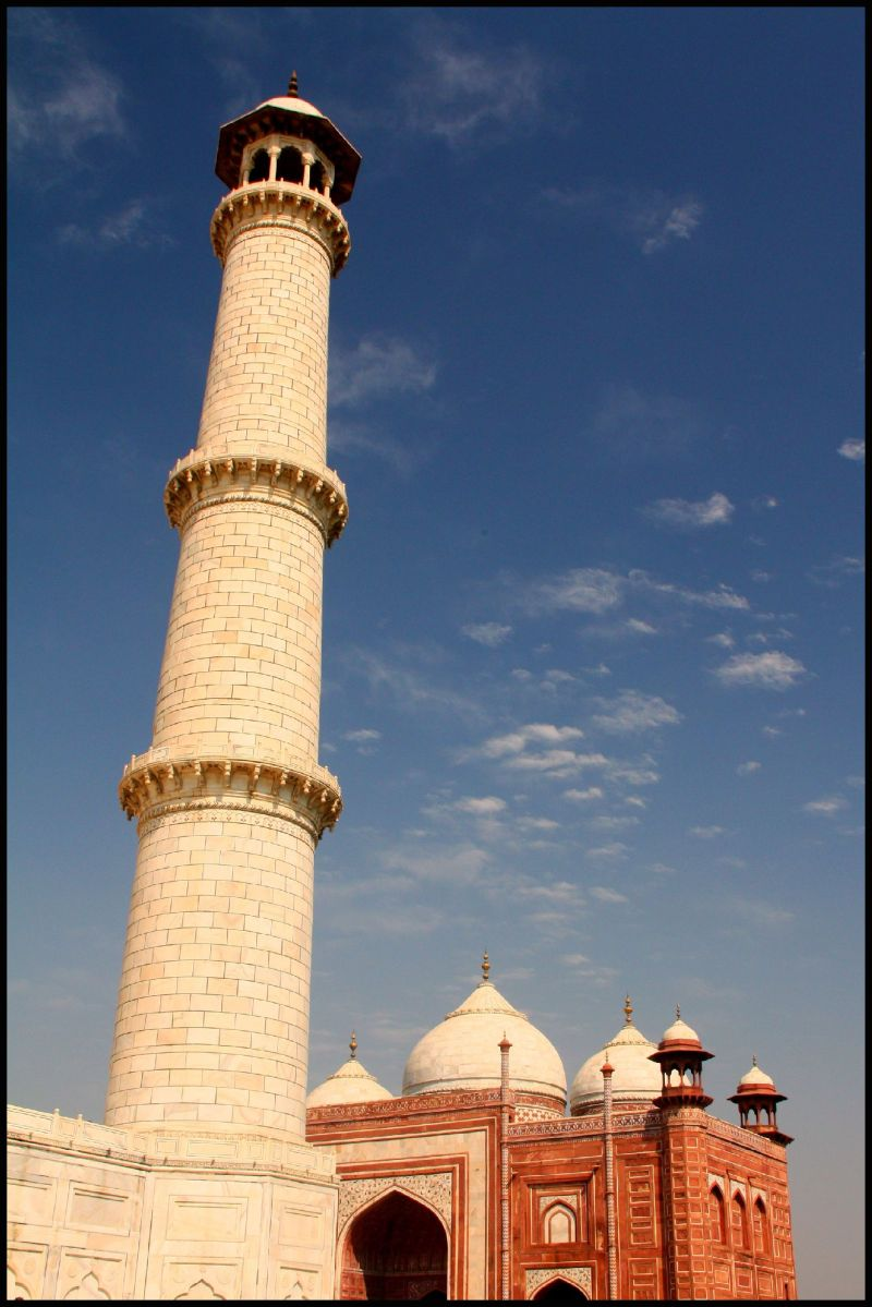 Taj Mahal Minaret and Guesthouse or Mosque