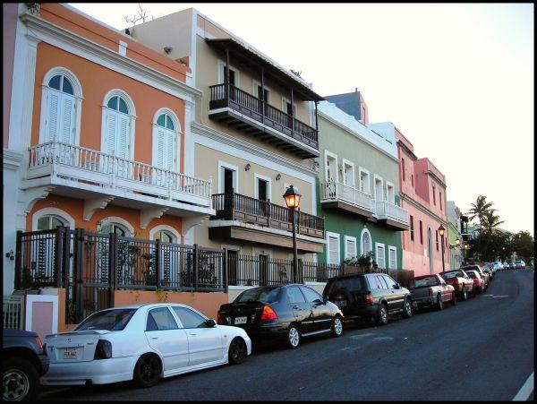 Multi-colored houses in San Juan, Puerto Rico