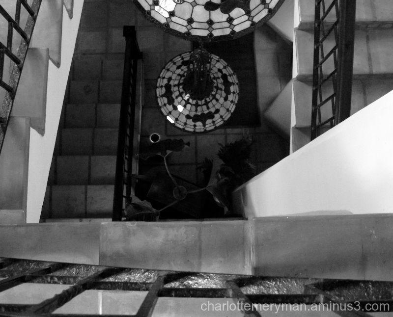 interior staircase with iron railing, San Juan, PR