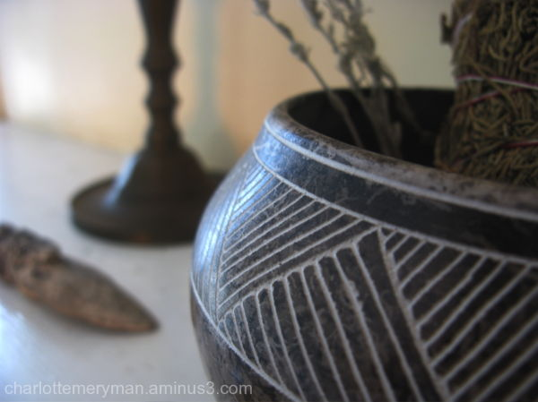 still life with Acoma pot by Gary Yellow Corn