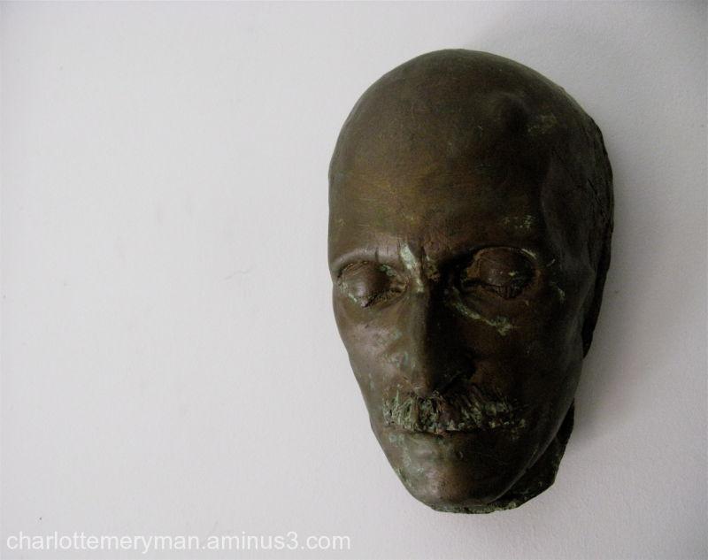 death mask of painter Abbott Thayer