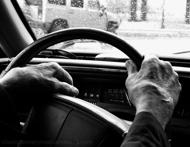 Old hands on the wheel