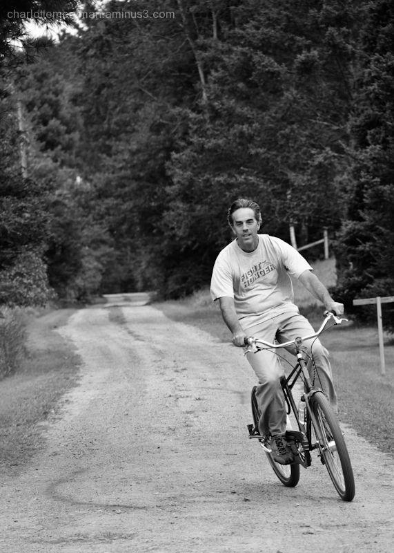 Still just a boy on his bike