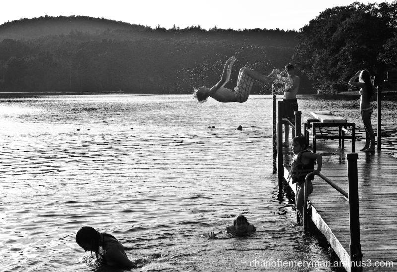Summer at the lake: Back flip