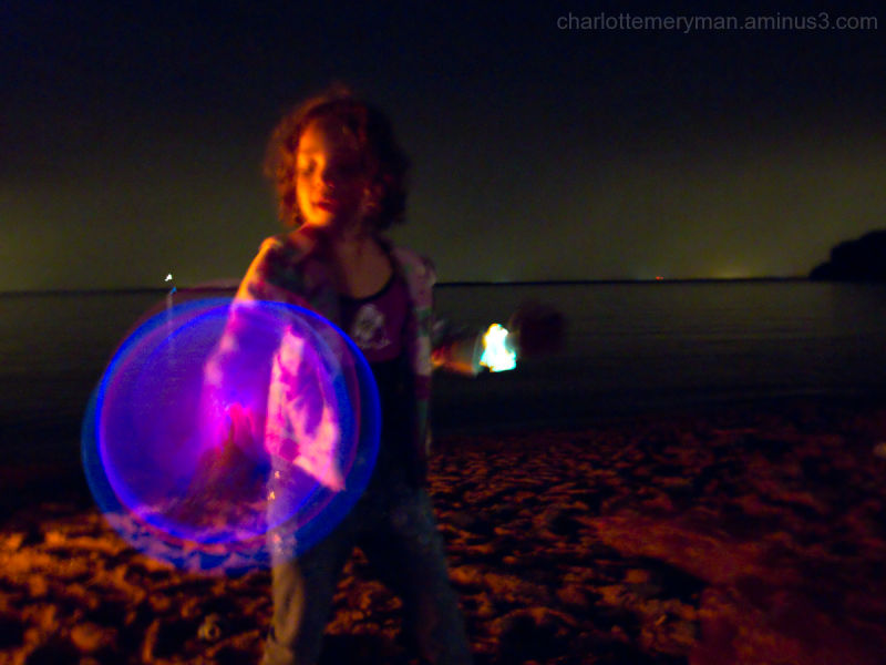 Girl with glow bands