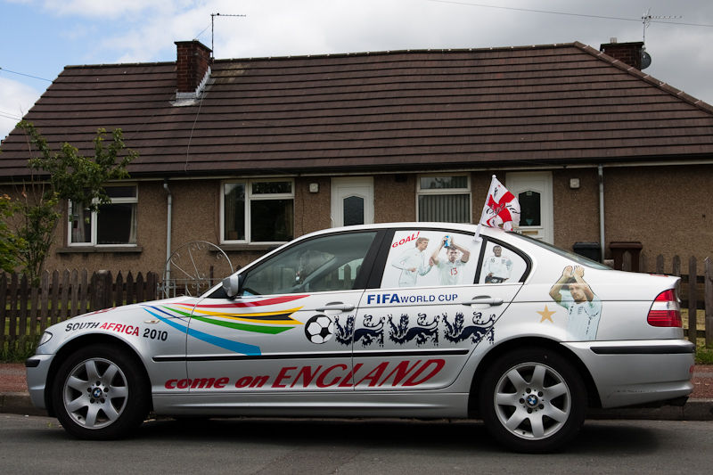 England supporter BMW