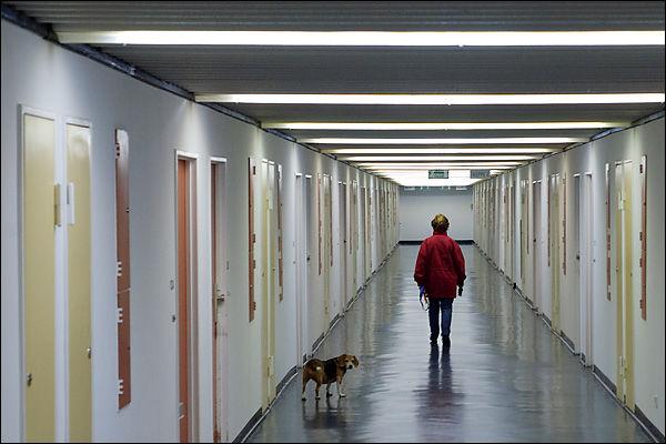 Korridor Corbusiers (10te Stock des Corbusierhaus)