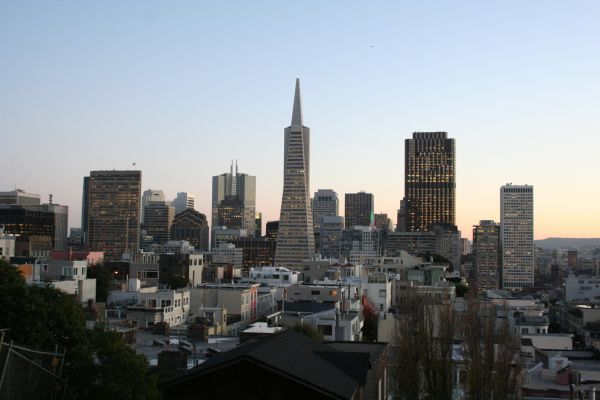 San Francisco Sunset from Coit Tower in December