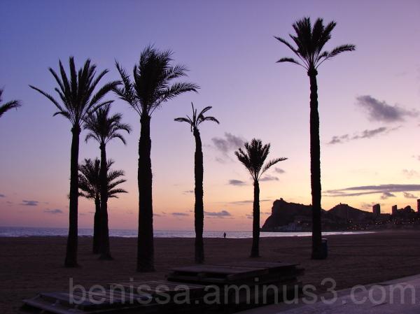 sunset in Benidorm