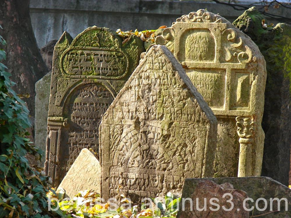 Tombes - Cimetière juif de Prague