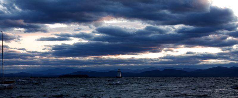 Storm over Lake Champlain-Burlington, Vermont