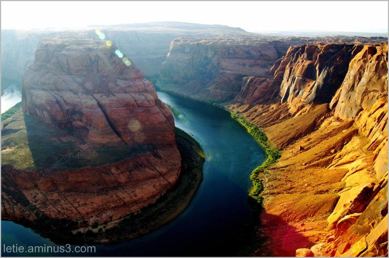 """le """"fer à Cheval"""" proche de page, en Arizona"""