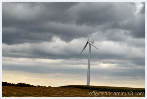 Rolling hills and windmill(s)