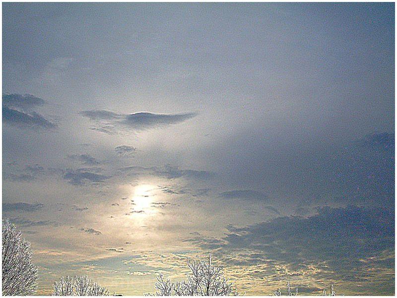 le ciel du 25 mars