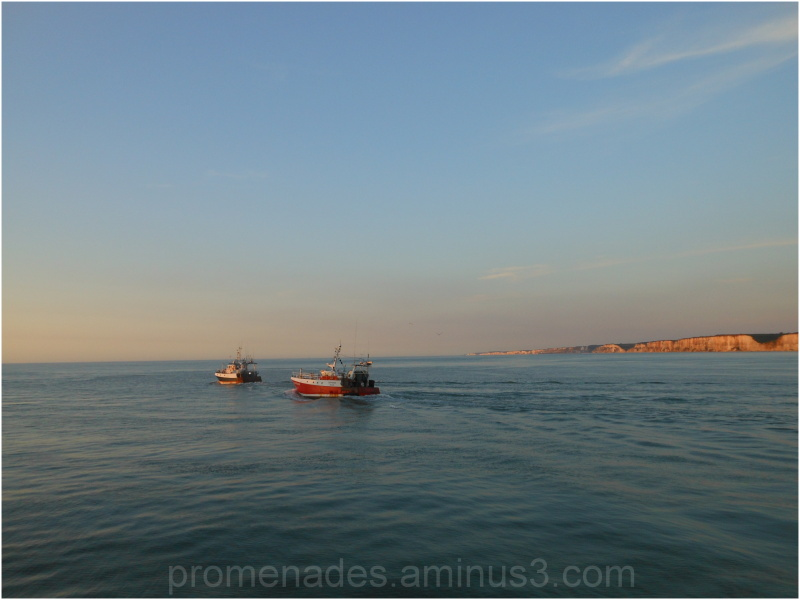 on the channel, departure for fishing