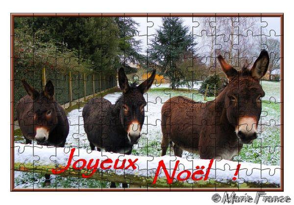 Trois ânes façon puzzle