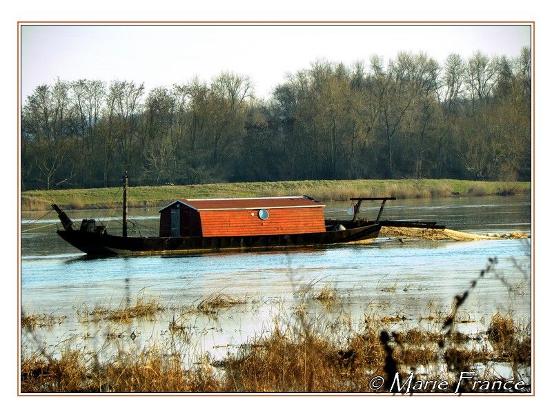 Bateau de pêche sur la Loire