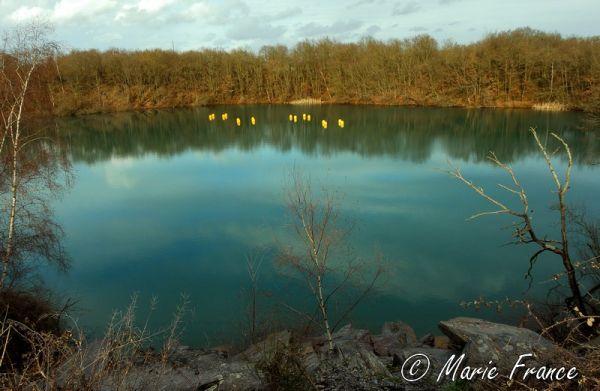 Lac de carrière d'ardoises
