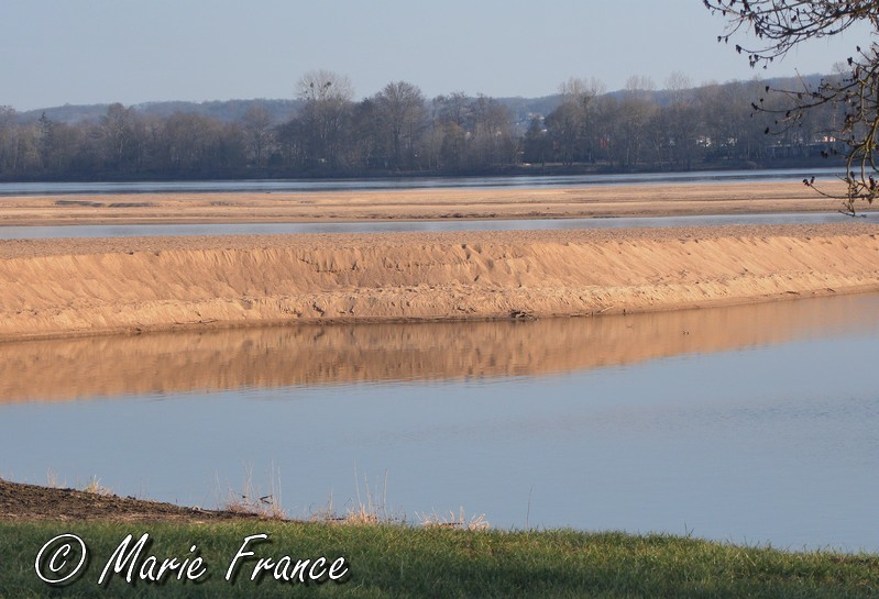 Banc de sable sur la Loire en Anjou