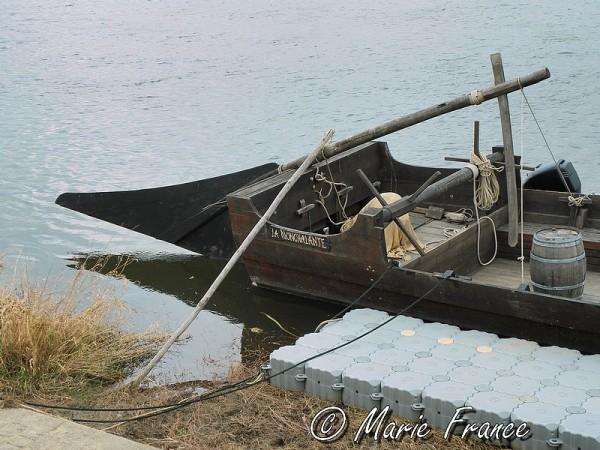 Détail d'une gabare de Loire