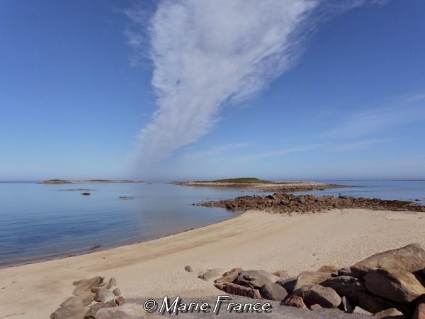 Banc de sable un matin en Bretagne