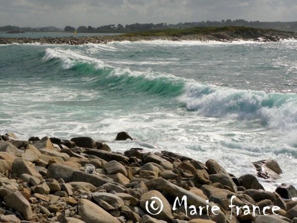 Grosse vague en Bretagne