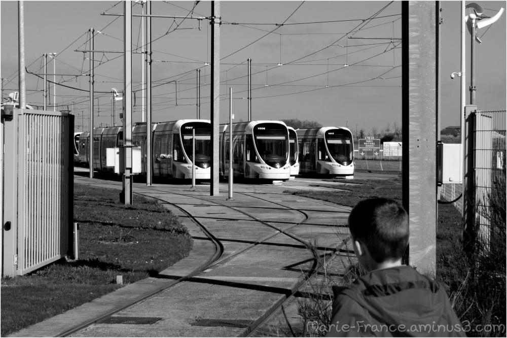 Gare des tramways à Angers