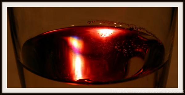 Mousseux dans un verre