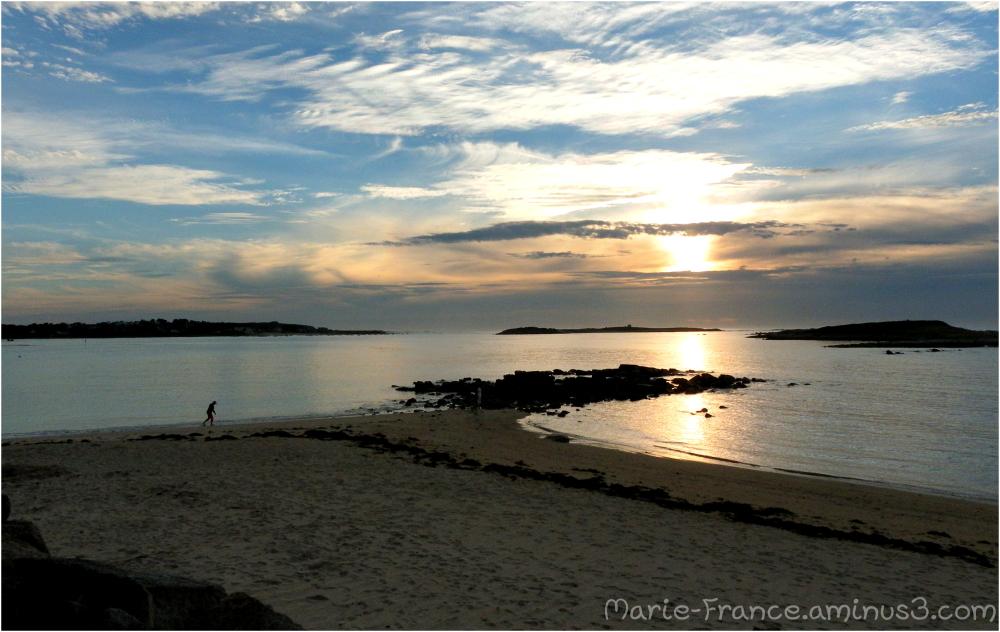 Paysage du soir en Bretagne