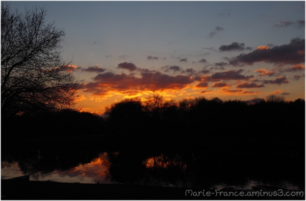 Coucher de soleil en Anjou