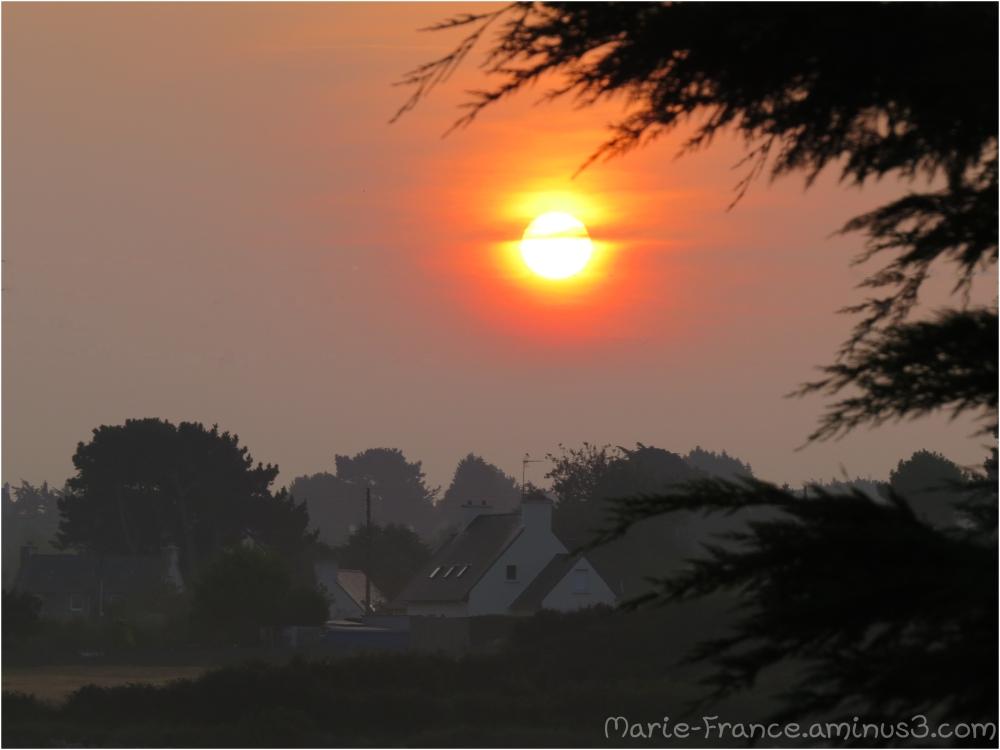 Lever du soleil en Bretagne