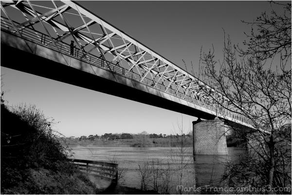 Pont métallique de Bouchemaine près d'Angers
