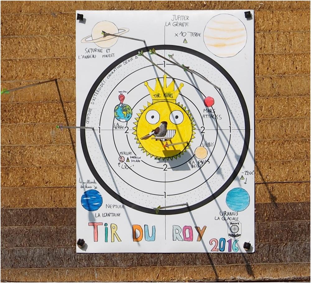 cible amusante pour tir à l'arc