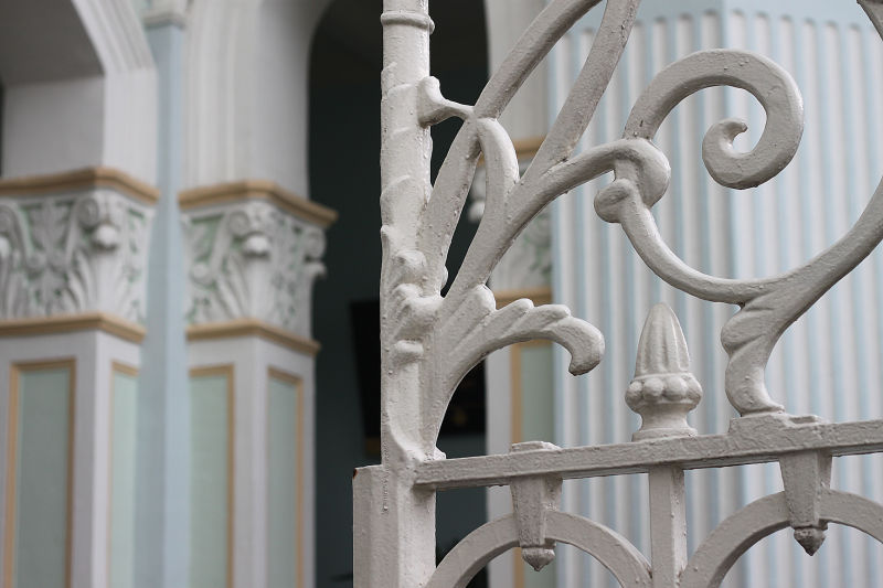 Intricate iron fence