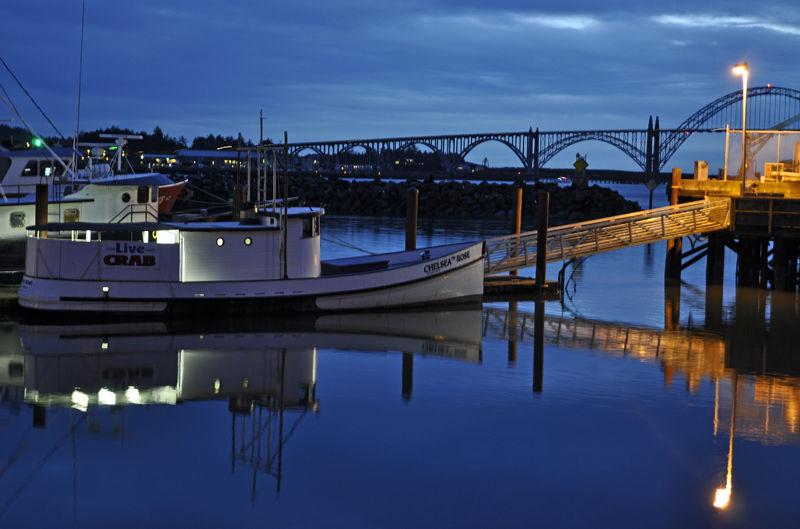 Newport by night