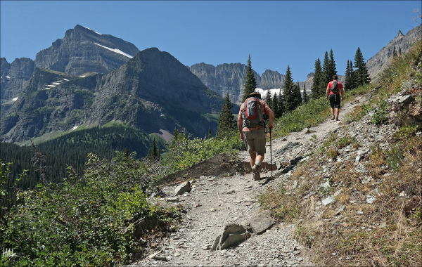 trail to Grinnell Glacier